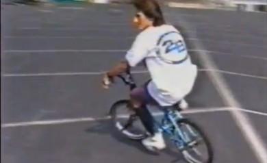 Mark Eaton sporting the 2B Brotherhood tee in the video Baking With Leigh 1991