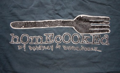 The 2B Homecooked Fork Logo tee shirt