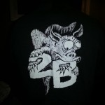 2B Monster tee shirt back. thanks to Jimmy Deaton!