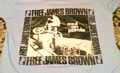 The Soul on Parole (Free James Brown) tee shirt by 2B Homecooked