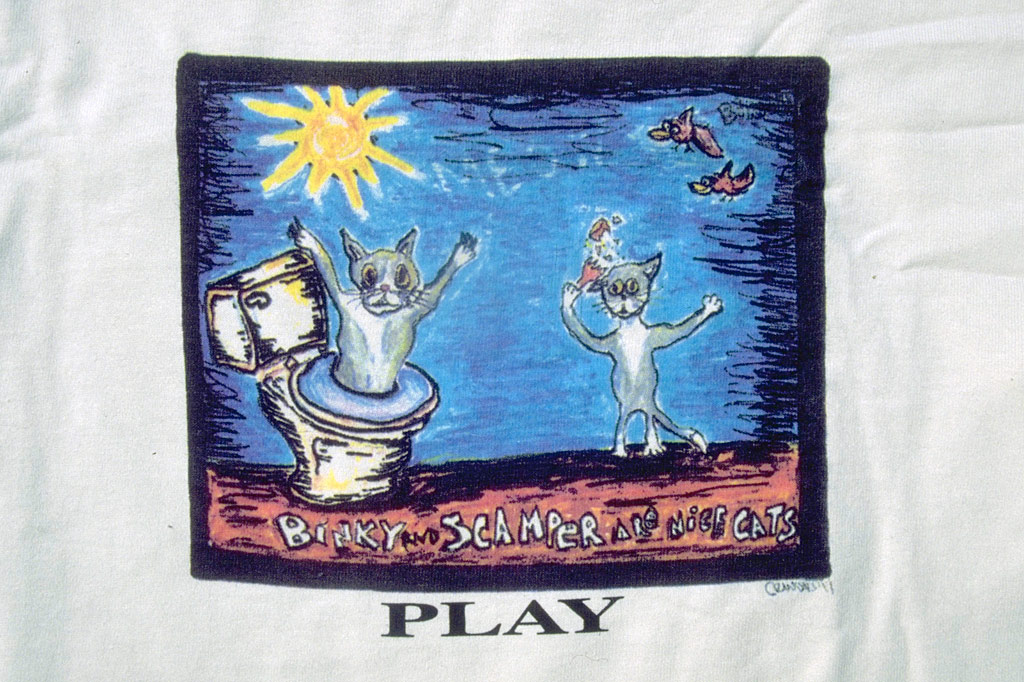 the Binky and Scamper tee shirt by PLAY Clothes 1997