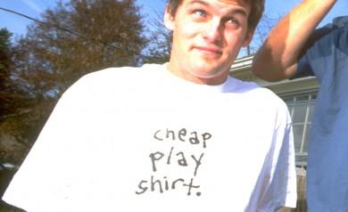 Leigh Ramsdell wearing a Cheap Play Shirt 1996