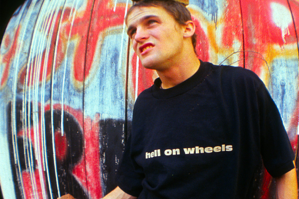 front of the Hell on Wheels shirt