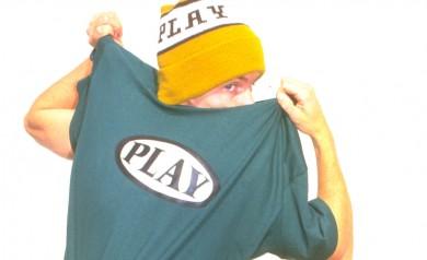 the PLAY oval logo tee shirt 1996