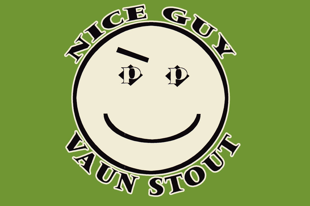 front of the Vaun Stout tee by Play Clothes 1996