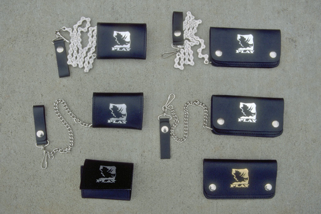 6 styles of PLAY wallets and chain wallets in 1996
