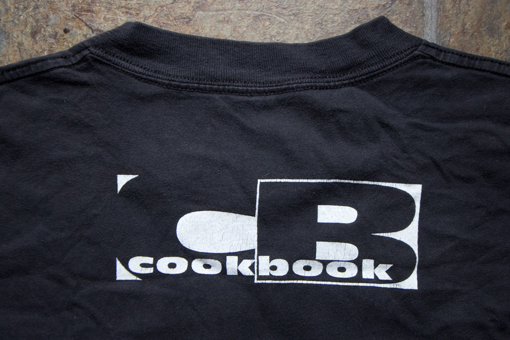 This was the logo on the back of the cookbook tee