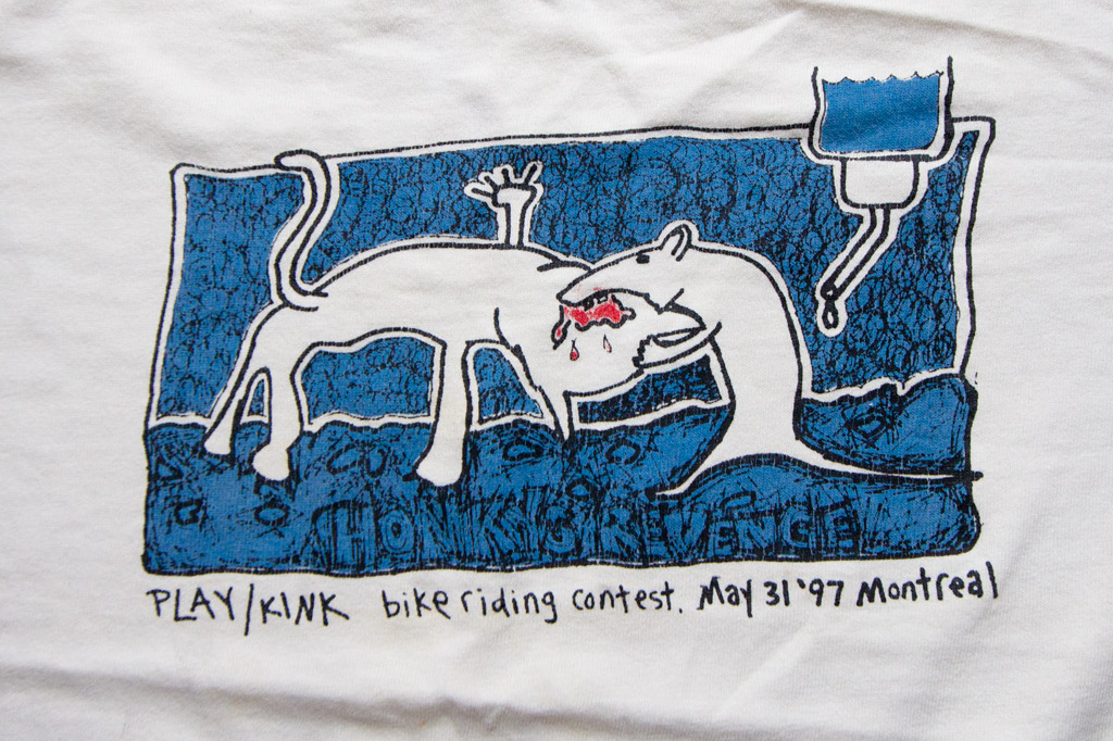A promotional tee for the PLAY contest in Montreal 1997