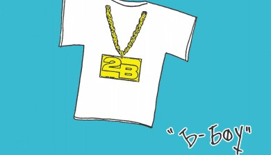 the B-Boy tee shirt by 2B Homecooked