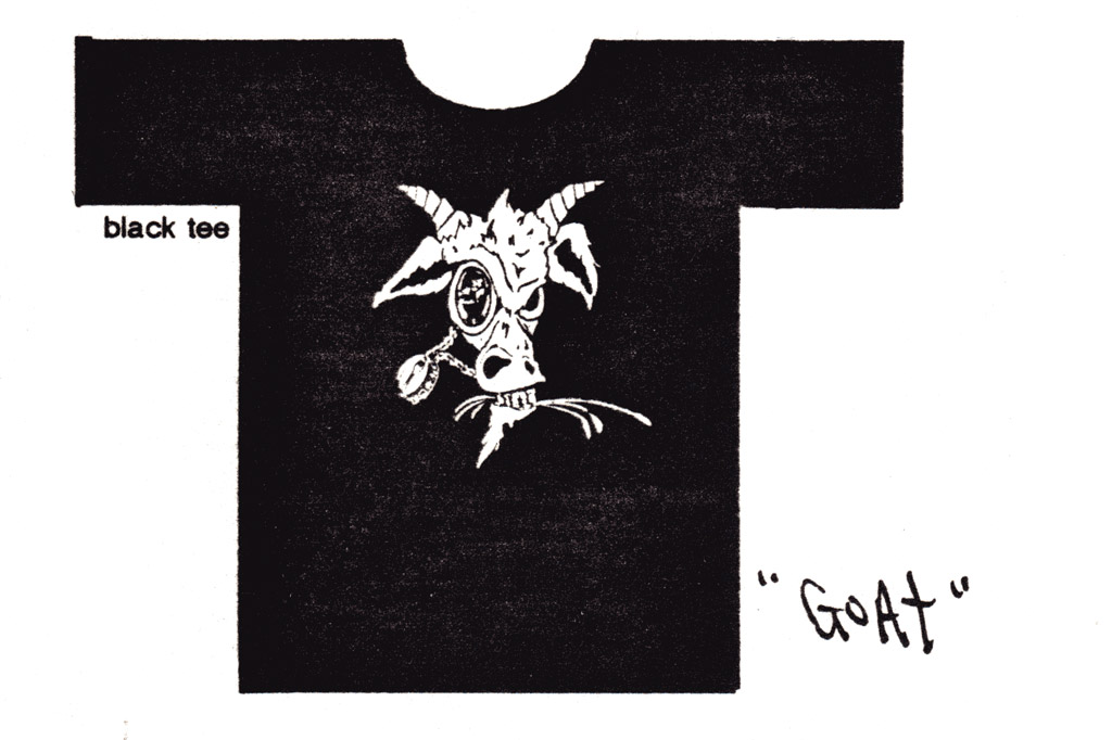 The Goat tee shirt by 2B Homecooked Garments
