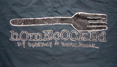 The 2B Homecooked Fork Logo tee shirt