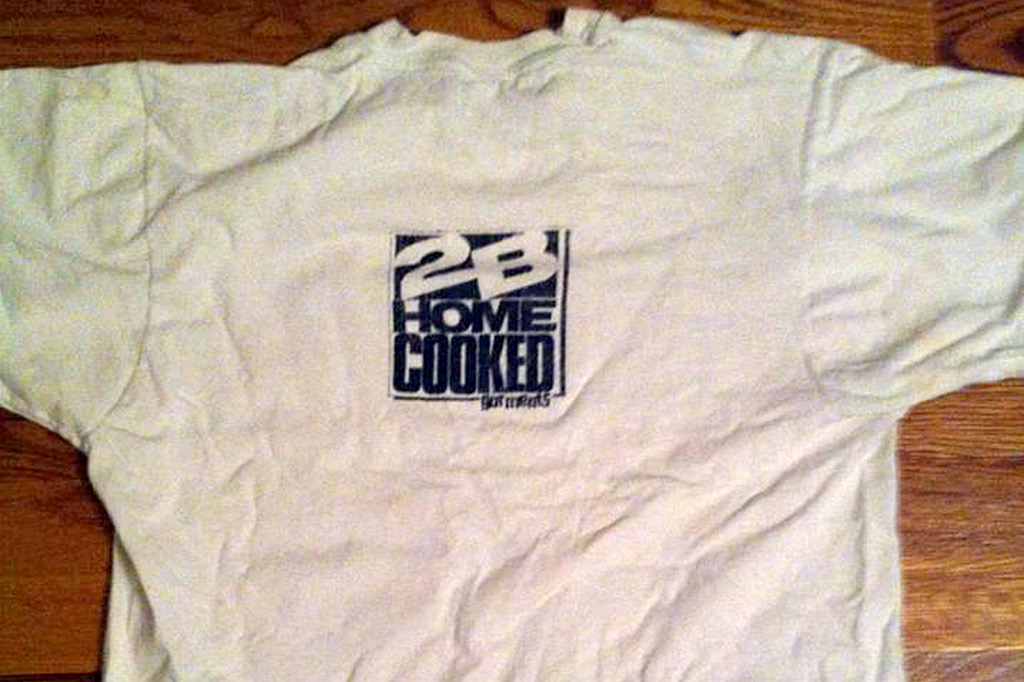 the back logo on the Soul Behind Bars tee shirt by 2B