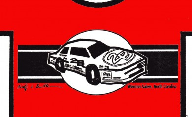 The 2B Stock Car tee shirt