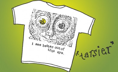 the Tarsier tee shirt by 2B Homecooked 1990