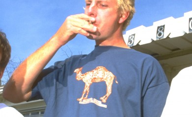 The PLAY Camel City tee shirt worn by Leif Valin 1996