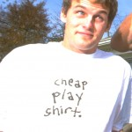 Leigh Ramsdell wearing a Cheap Play Shirt 1996