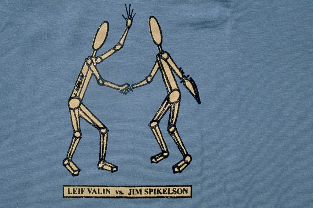 the Leif Valin 1997 pro model tee by PLAY
