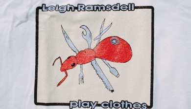the 1998 Leigh Ramsdell pro model tee: Swiss Army Ant by PLAY Clothes