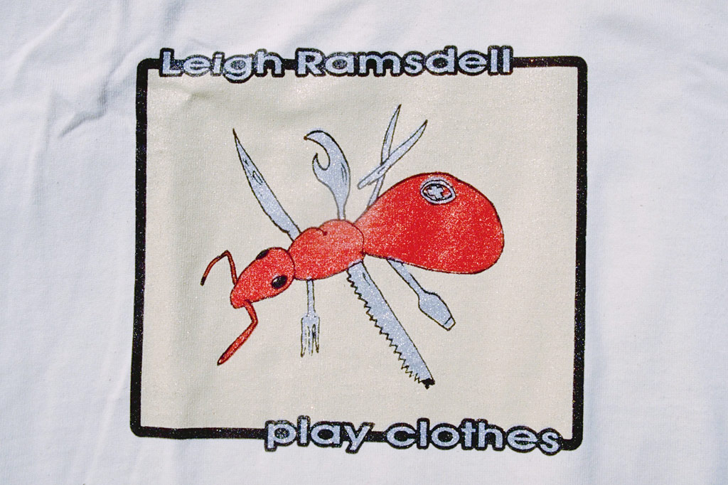 the 1997 Leigh Ramsdell pro model tee: Swiss Army Ant by PLAY Clothes