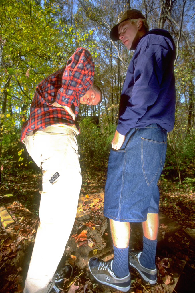 PLAY pants and shorts modeled by Hal B and Leif Valin 1996