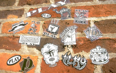 PLAY stickers and patches