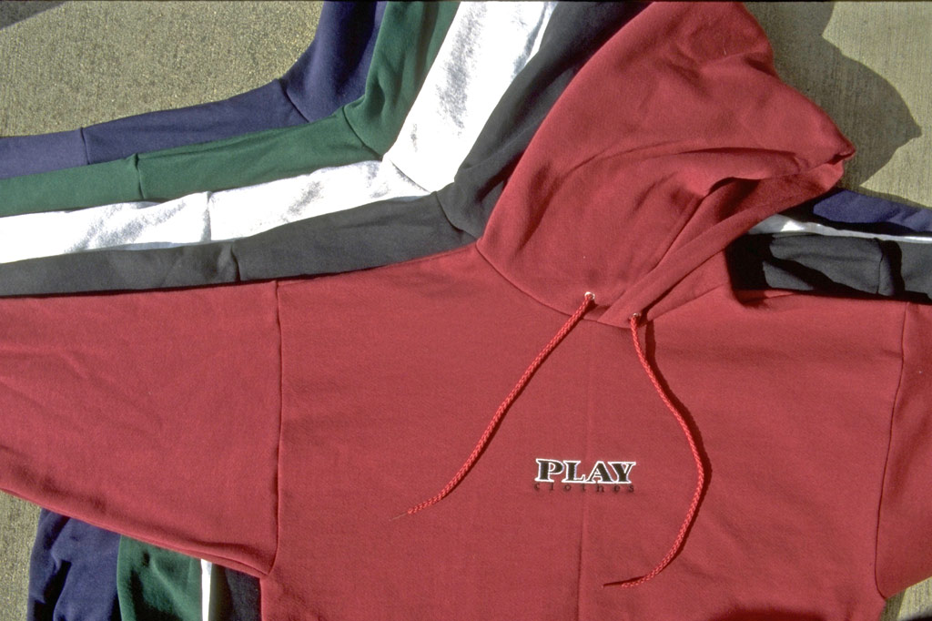 Play embroidered sweatshirts in asst colors 1997