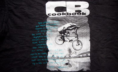 The Cookbook tee shirt