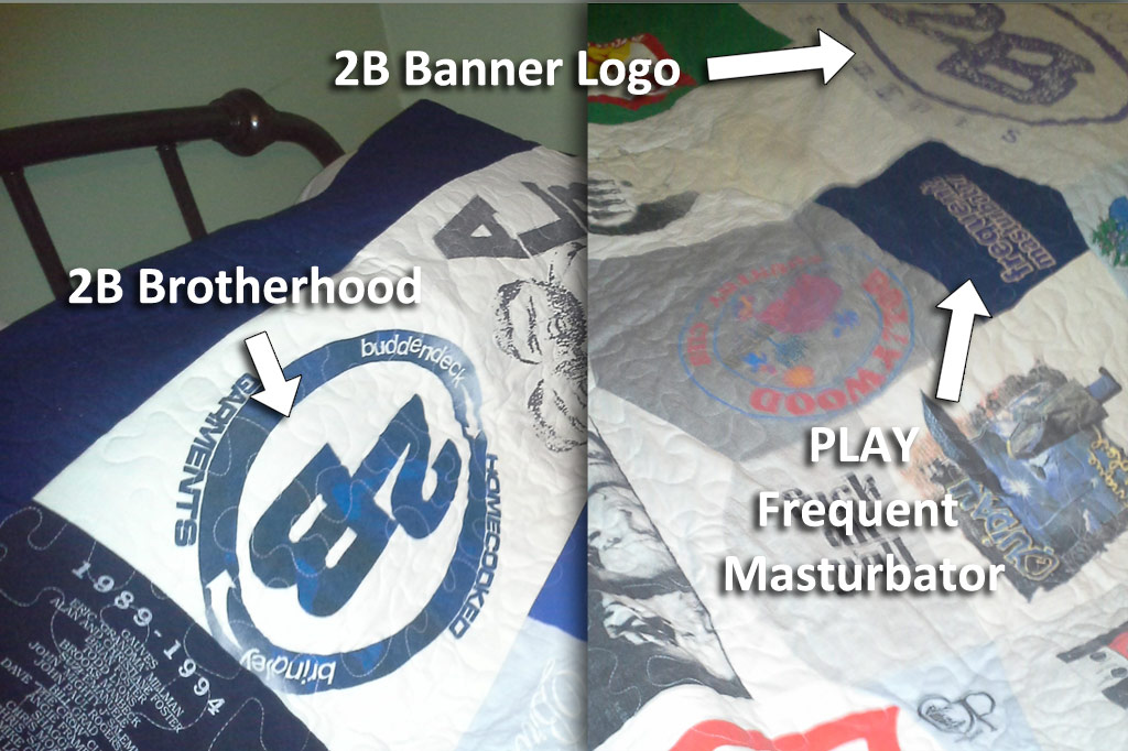 Krystal Kirkendoll's quilt of oldscool bmx shirts